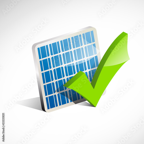 Fotografie, Obraz  Check solar panel # Vector