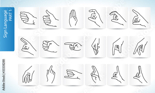 Sign Language Symbols Part 1 Buy This Stock Vector And Explore