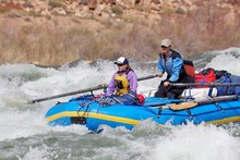 Two Women Rafting The Grand Ca...