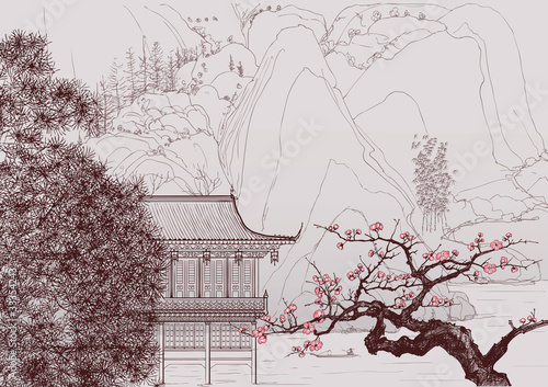 Canvas Prints Art Studio Chinese landscape
