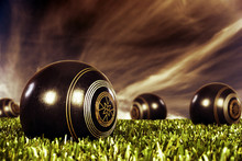 Close Up Of Bowling Balls On A...