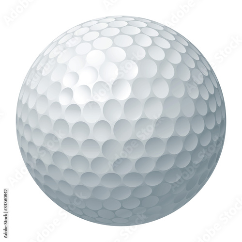 Golf ball illustration Fototapet