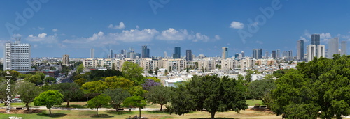 High resolution panorama view of Tel Aviv.