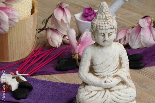 Plissee mit Motiv - Asiatische Dekoration