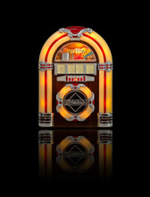 Juke Box Radio Isolated On Bla...
