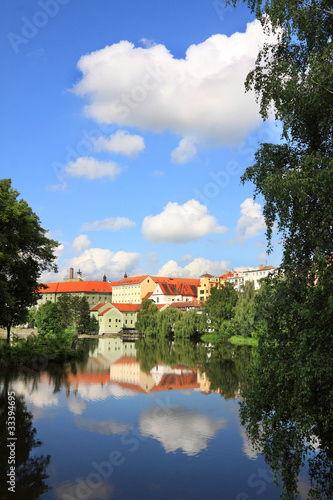The colorful medieval town Pisek in Czech Republic Poster