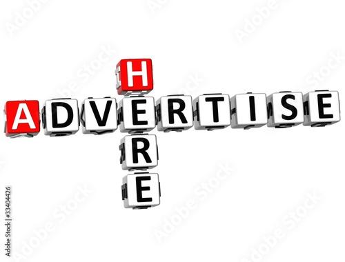 Fotografía  3D Advertise Here Crossword