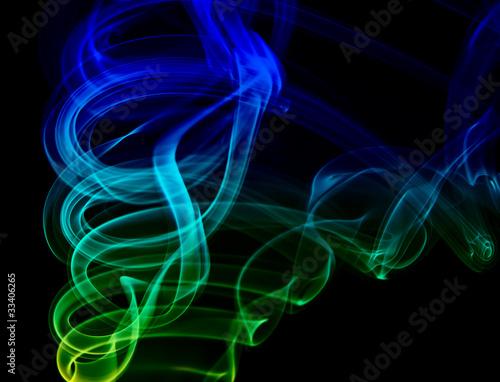abstract colored smoke Canvas Print