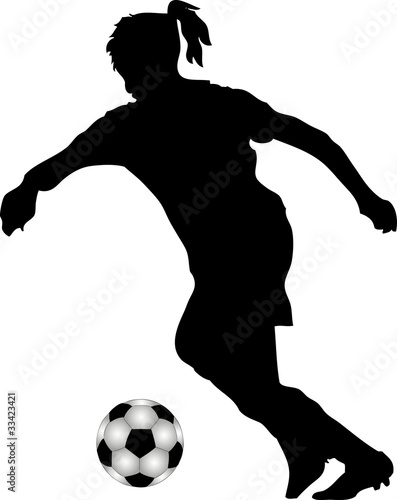 Silhouette Fussballspielerin Buy This Stock Vector And
