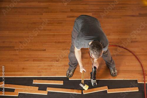 Flooring installation © Michael Pettigrew