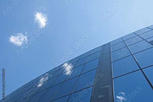 Office building on a blue sky