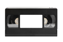 Old Video Tape (cassette), Isolated On White (clipping Paths)