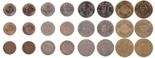 Isolated Taiwanese Coins From New To Worn