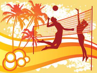 Fototapetabeach volley vector