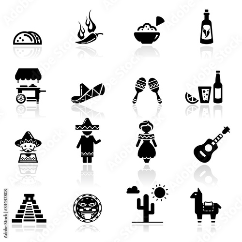 Icons Set Mexican Culture And Cuisine Buy This Stock Vector And