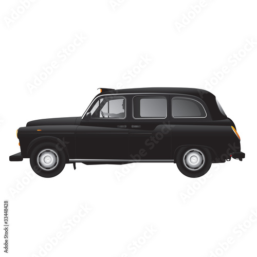 Leinwand Poster London symbol -  black cab - isolated - very detailed