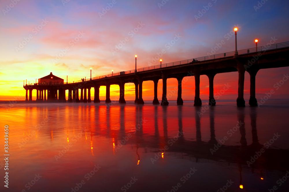 Fototapety, obrazy: Manhattan Beach Pier