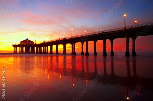 Obraz Manhattan Beach Pier - fototapety do salonu
