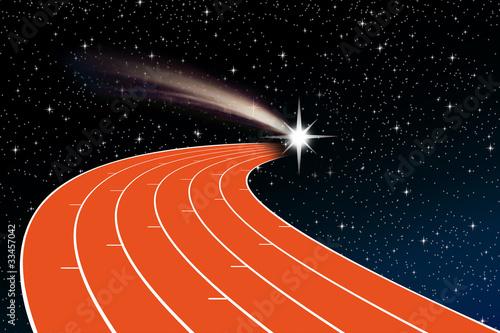 piste d'athlétisme Canvas Print