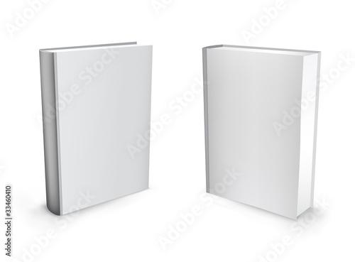 Fotografija 3d vector white books