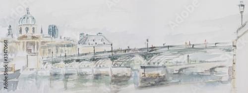 fototapeta na lodówkę Le pont des arts