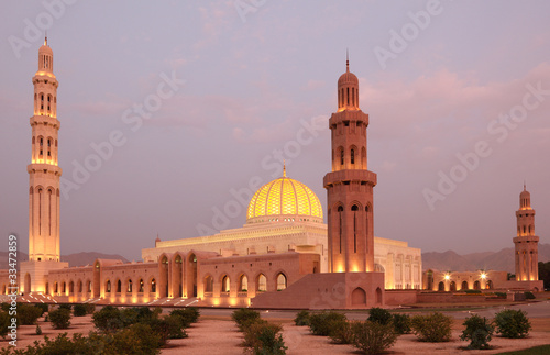 Poster Moyen-Orient Sultan Qaboos Grand Mosque in Muscat, Oman