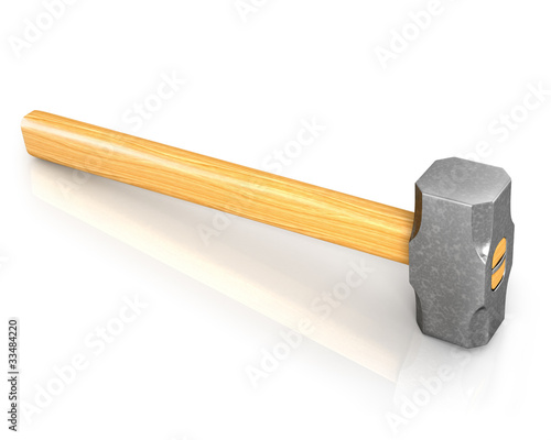 Metal sledge hammer isolated
