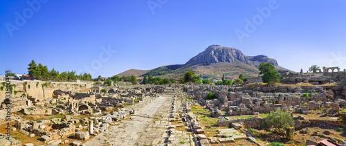 Obraz na plátne Ruins of town in Corinth, Greece