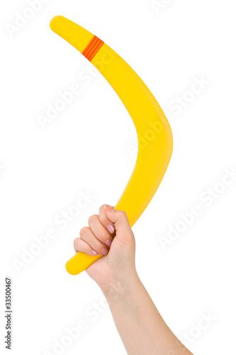 Платно Hand with boomerang