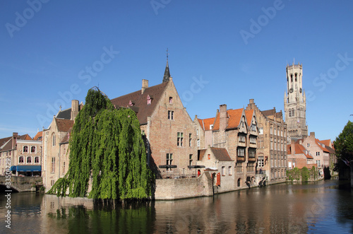 Foto op Canvas Brugge Most common view of medieval Bruges
