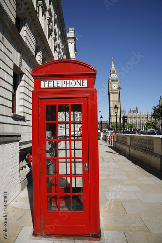 Fotografie, Obraz  Big Ben and Red Telephone Booth