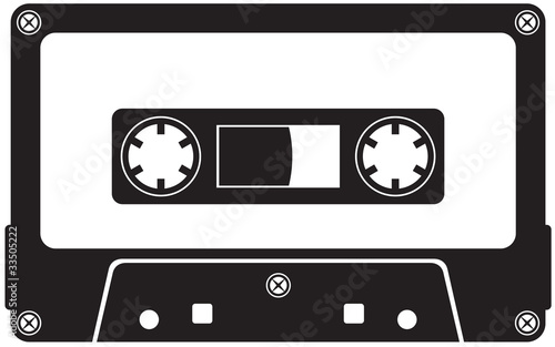 Canvas Print Audio cassette tape