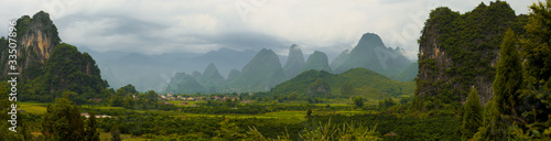Foto op Canvas China Xingping Karst Panorama