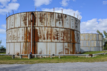 Old Rusty Oil Tanks In Governor's Harbour