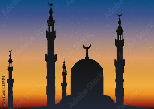Obraz na plátne Fond Minaret