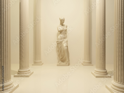 Fotografie, Obraz  Ancient Statue of a nude Venus in the middle of perspective pill