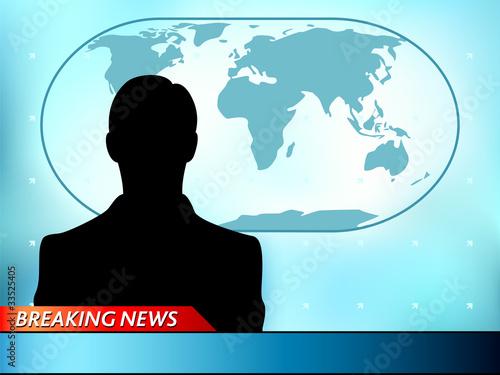 Breaking News Tv Background With Man Reporter Kaufen Sie Diese