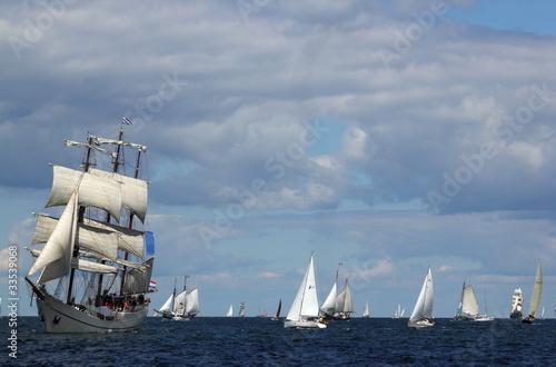 Motiv-Rollo Basic - Windjammer auf der Ostsee