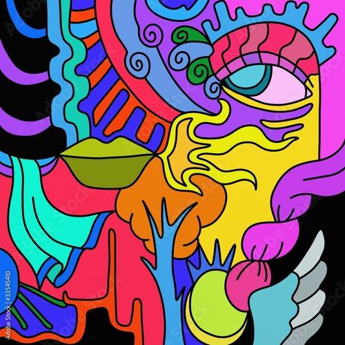 Foto op Plexiglas Klassieke abstractie abstract color