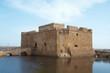 Castle in Paphos harbour, Cyprus