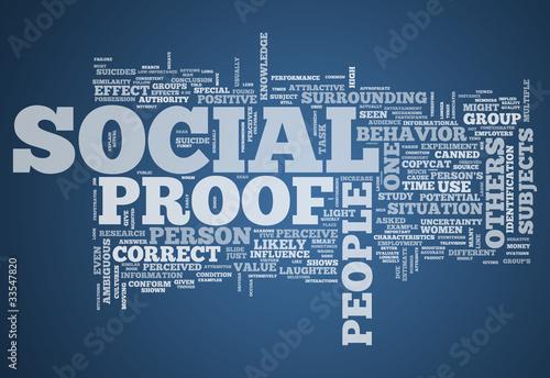 "Valokuva  Word Cloud ""Social Proof"""