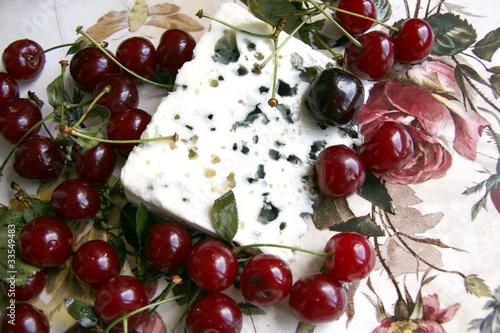 Cadres-photo bureau Fruits Cherry and cheese