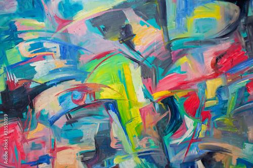 Deurstickers Paradijsvogel abstract watercolor background