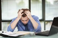 Office Worker Discouraged