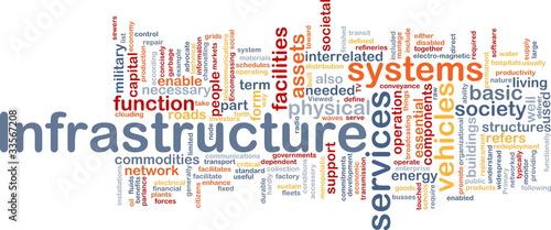 Fotografía  Infrastructure background concept