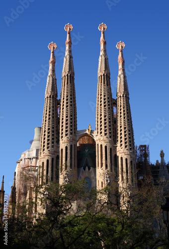 Foto op Canvas Barcelona Sagrada Familia Gaudi ohne Kräne, Barcelona