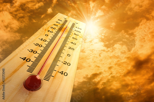 Canvastavla thermometer in the sky, the heat