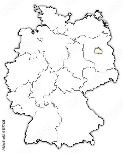 Deutschlandkarte Berlin Hervorgehoben Buy This Stock