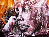 Fototapeta Młodzieżowe - graffiti niña - pajaro
