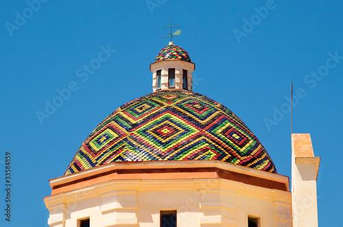 Fotografie, Obraz  Alghero Cupola Chiesa di San Michele